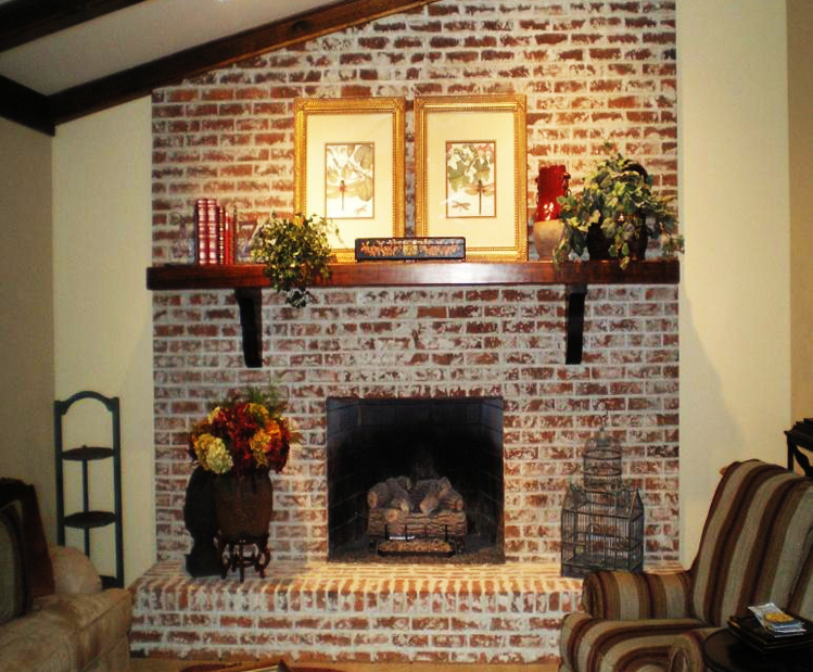 Brick Fireplace After Image