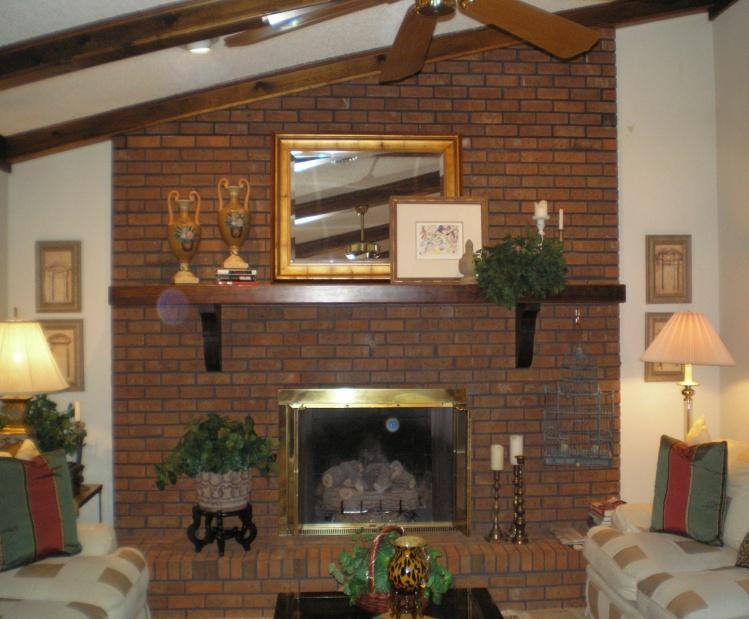 Brick Fireplace Before Image