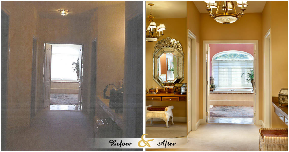 kaufman-entrance-before-and-after-bedroom