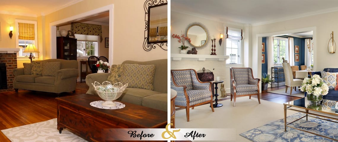 Before & After - Lenore Frances Home Interiors